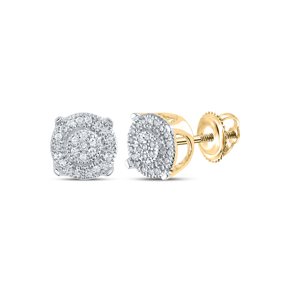 Diamond Wedding Band in 10K Yellow Gold 1//8 cttw, G-H,I2-I3 Size-7.25